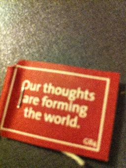 """Our thoughts are forming the world"""